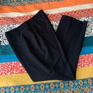 Lane Bryant pinstripe trousers